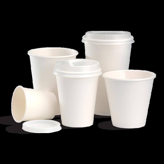biopak white cups